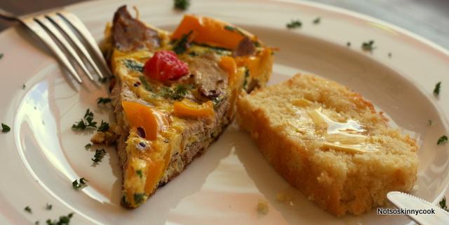 Fritata and Corn Bread